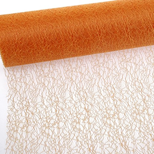 Spiderweb - Mesch - Tafelloper - Tafelband - 30cm oranje - rol 25m - 67 018-R 300