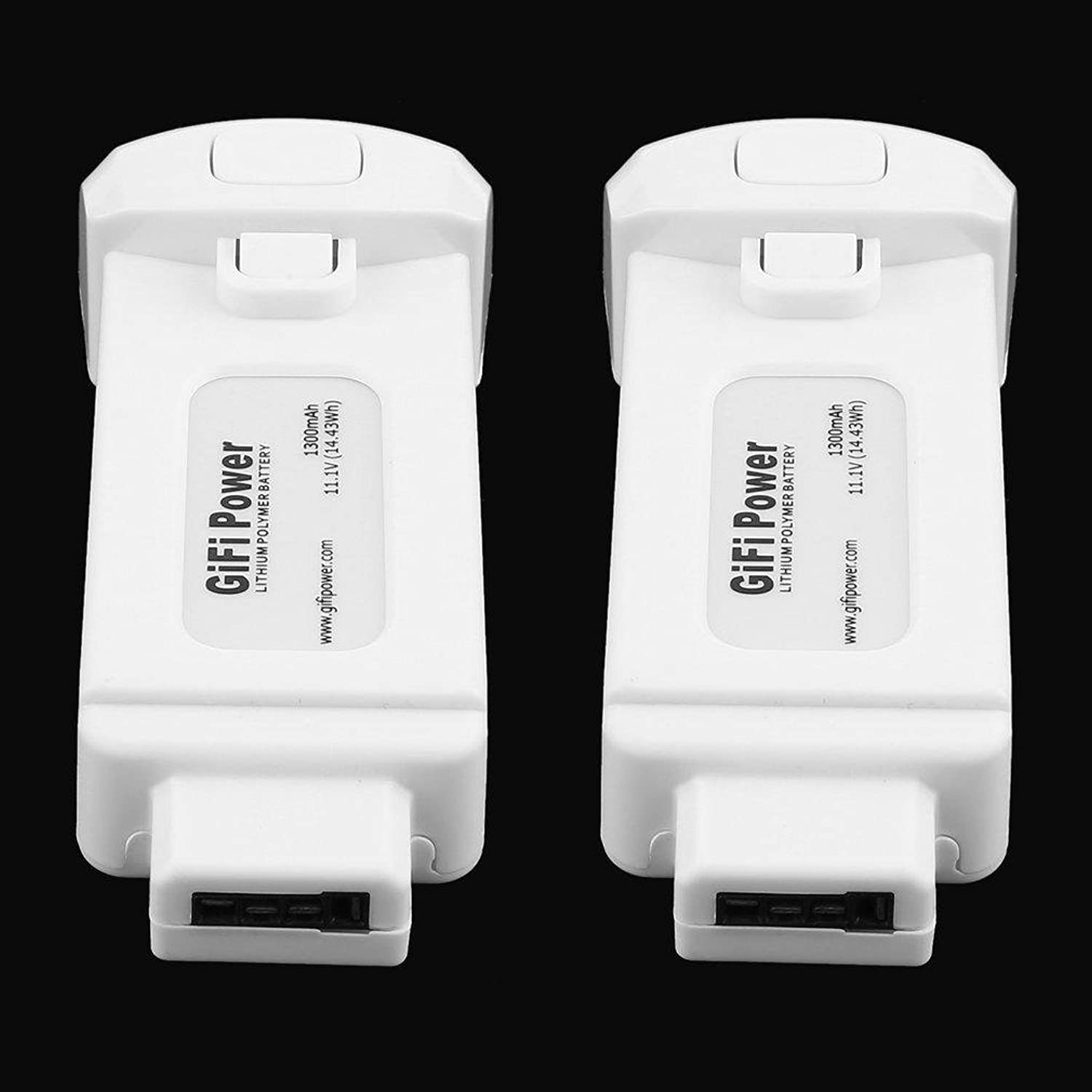 Favrison 2 Pcs 11.1V 1300mAh 14.43Wh Lithium Polymer Battery for Yuneec Breeze Drone