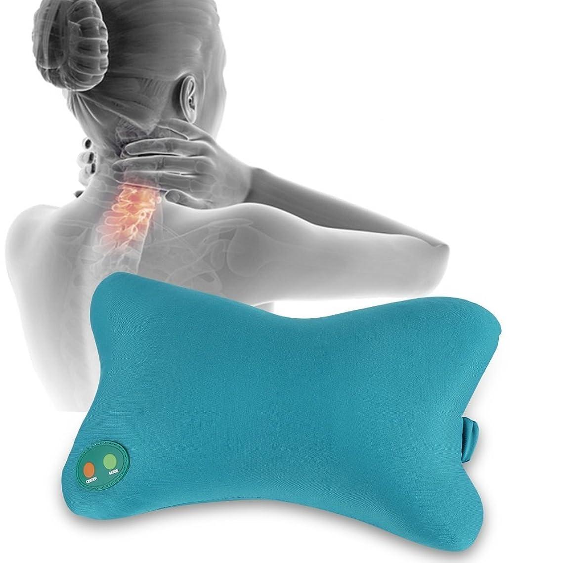 折るライムに話すマッサージピロー、背中の痛みを軽減するための柔らかい電気ネックマッサージの刺激のクッション車のオフィスホームナップの使用、CEの承認