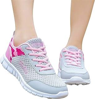 Memefood Zapatillas Deportivas De Mujer, Zapatos Deporte Casual Sneakers Con Plataforma Running Yoga Calzado De Cordones D...