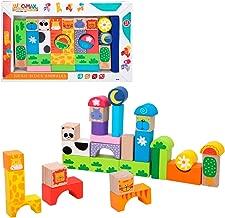 WOOMAX- Juegos Bloques Animales de madera-32 Piezas (ColorBaby 42739)