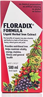 Floradix Iron & Vitamin Formula Liquid 500 ml, 500 milliliters
