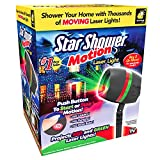 Star Shower Motion Laser Light by BulbHead - Indoor Outdoor Laser Light Holiday Decorating – Sparking or Still Red and Green Laser Lights Cover up to 3200 Square Feet