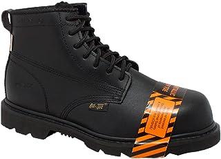 AdTec Mens Black 6in Composite Toe Boot Leather Uniform 15 W