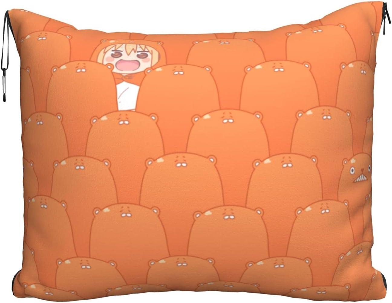 Nippon regular agency Umaru-Chan Travel Free shipping New Blanket and Pillow Set - 2 in + Velvet Flann 1