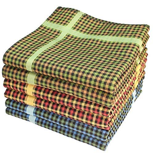 bilberry Stofftaschentücher 6 Stück ca.40x40cm reine Baumwolle Herrentaschentücher Jack