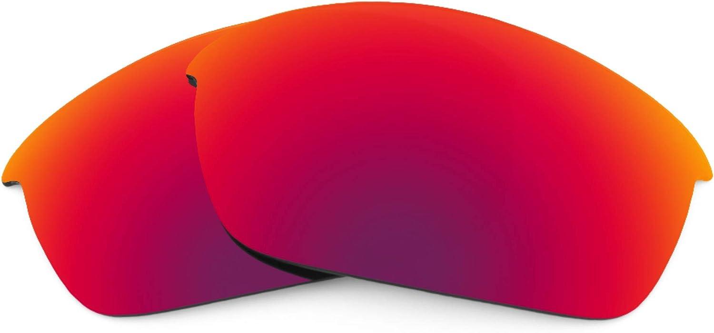 Revant Verres de Rechange pour Oakley Flak Jacket - Compatibles avec les Lunettes de Soleil Oakley Flak Jacket Soleil de Minuit Mirrorshield - Polarisés