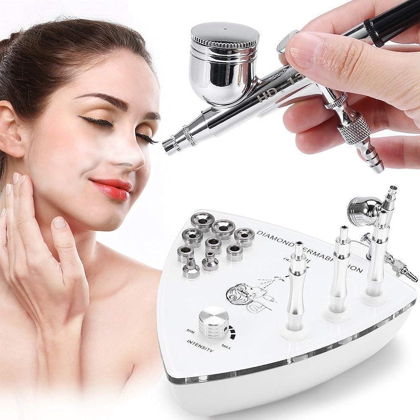 怪しい一回テレビ専門のダイヤモンドのMicrodermabrasion Dermabrasion機械、顔の心配の皮装置水スプレーのしわの取り外しの皮のきつく締まる剥離のための家の使用のための装置