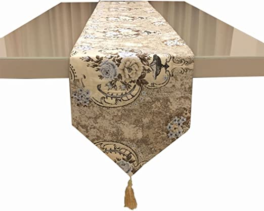 Amazon Com Idealcn Vintage Rose Ink Painting Dining Table Runner Chinese Style Flax Blue And White Porcelain Top Home Decoration Home Kitchen