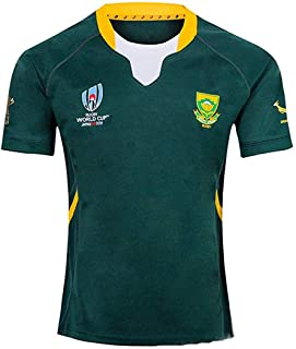 2019 World Cup Rugby Jersey Rugby Jersey South Africa Home/Away for Men Short Sleeve Casual T-Shirt Training Suit South Africa Home Away