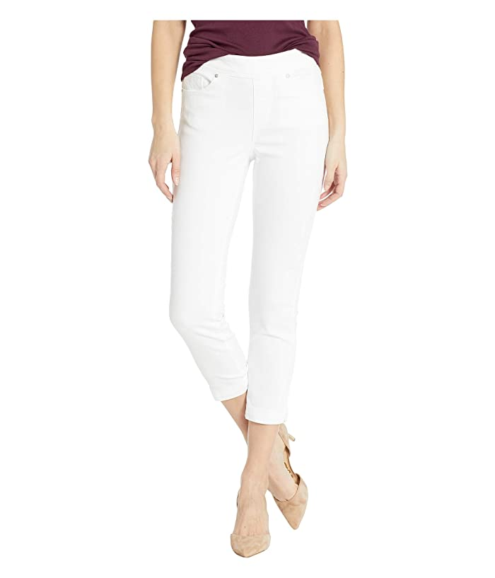 Tribal Super Stretch Pull-On Capris (White) Women