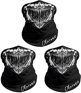 Olarveo Skull Face Mask Motorcycle Half Face Masks Microfiber Sun Dust Wind Protection for Hiking Camping Climbing Fishing Hunting Motorcycling Headband Scarf Headwrap Neckwarmer