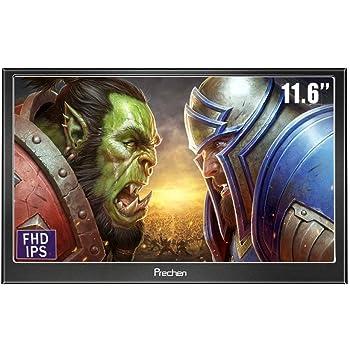 Prechen 11.6インチモバイルモニターIPS 1920x1080 / HDMI VGAモニターゲームモニター/携帯型ディスプレイRaspberry Pi Windows 7 8 10 PS4 用対応 スピーカ内蔵 PCモニタ