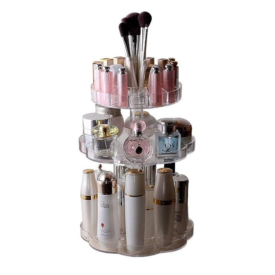 バリークレーンクレーン化粧品ラックデスクトップラック安全で環境に優しいジュエリー収納トレイ透明アクリル化粧品収納ボックス回転多機能ホームラック (Color : CLEAR, Size : 26*42CM)