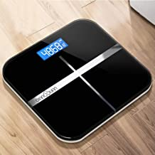NYDZDM Electronic Scale Electronic Weight Scale Accurate Home Health Weighing Body Instrument Adult Weight Loss Scale Small Female Weighing Meter USB Charging (Color : Black)