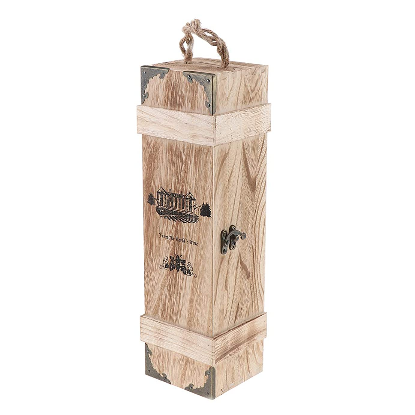 Perfeclan ワインボックス 木製 シングル 赤ワインボックス 収納ギフトボックス