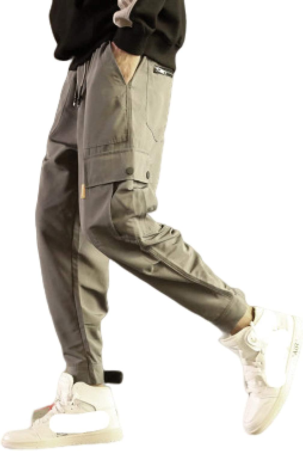 Mens Hard New Free High order Shipping Wearing Cargo Work Pants Trousers Multi Pocket Joggers