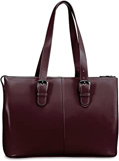 Jack Georges Milano Collection Madison Avenue Laptop Tote (Cherry)
