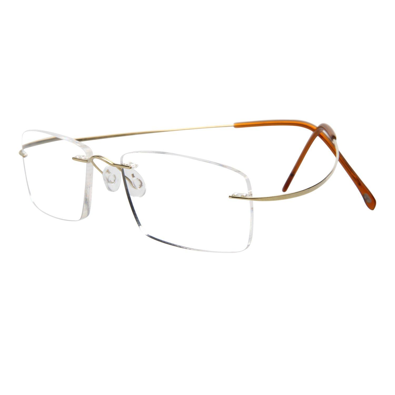 恋上LianSan 老花镜 男女款 眼镜 无框 老花眼镜 钛架 阅读镜 树脂镜片 男士 女士 通用 老花镜 LMO-013 紫色 200°