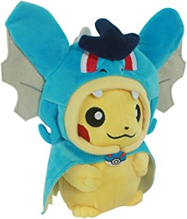 "Generic Pikachu with Gyarados Cape Cosplay Magikarp Pokemon Plush Toy Stuffed Animal 8"""