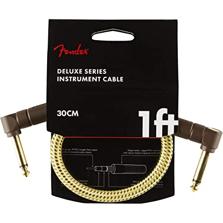 Fender Deluxe Series - Cordons Patch - 0.30m – Angle/Angle – Tweed