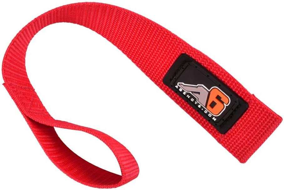 Agency 6 Winch Lowest price challenge Hook Pull Strap - Dut 1.5 Direct stock discount Heavy RED INCH Wide