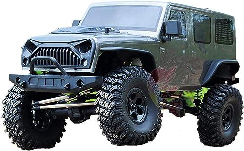 @MZL Monstre Camion RC Voiture 4WD Voiture à Grande Vitesse 1 10 Ratio 2.4 Ghz Simulation Restauration Lampes à LED Suspension Voiture d'escalade Hors Route Professionnelle pour