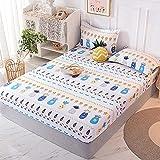 FJMLAY Sábanas ajustablesExtra Suave,Sábanas de algodón para Cama, Almohadillas Protectoras para Dormitorio Apartments-P_150cmx200cm