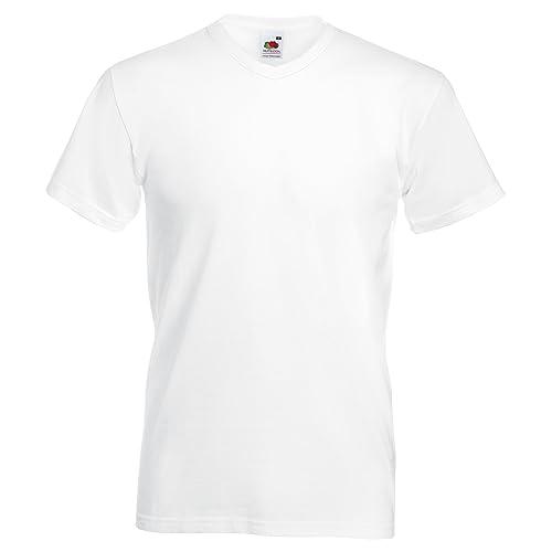 17d3f8a1f9a Fruit Of The Loom - Camiseta Básica de pico de manga corta de calidad  superior para