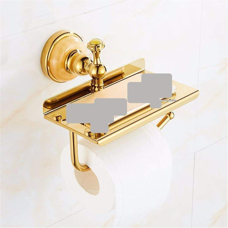 Jade Bronze gold European Bathroom Hanger Set,Toilet Paper in Rack