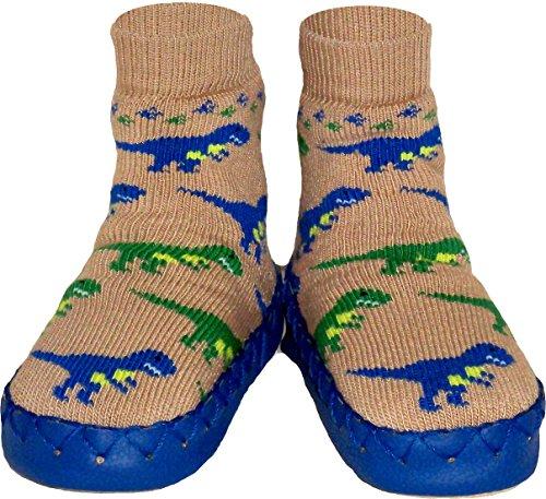 Konfetti T-Rex Dinosaur Slipper Sock Swedish Moccasin
