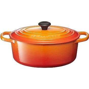Le Creuset Enameled Cast Iron Signature Oval Dutch Oven, 3.5 qt., Flame