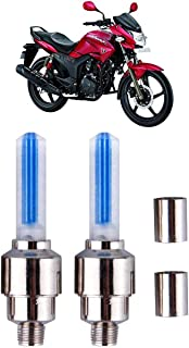 Kandid LED Tyre Valve Cap Light for Bike - Blue (Pack of 2) for Hero Hunk