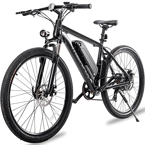 "Merax 26"" Aluminum Electric Mountain Bike 7 Speed E-Bike, 36V Lithium Battery 350W Electric..."