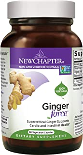 New Chapter Ginger Supplement - Ginger Force with Supercritical Organic Ginger + Non-GMO Ingredients - 60 ct Vegetarian Capsules