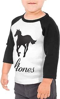 Deftones Unisex Toddler Baseball Jersey Contrast 3/4 Sleeves Tee