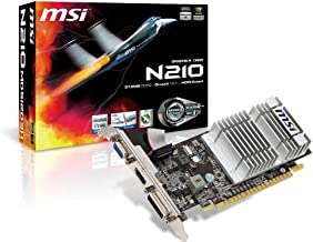 MSI GeForce 210 512 MB DDR3 TurboCache 1 GB VGA/DVI/HDMI PCI Express x16 2.0 Graphics Card (N210-MD512D3H/TC)