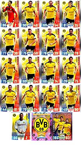 Match Attax Bundesliga 2015 2016 - Karten-Set Borussia Dortmund BvB Cap Offensiv-Trio Clubkarte - Deutsch