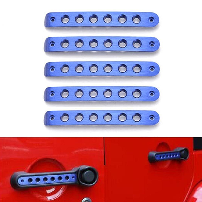 障害者建てるブランクJicorzo - For Jeep Wrangler 4 Doors Car Exterior Door Handle Bar Mouldings Cover Trim Styling Decor Stickers Automobile Accessories 07-15 [Blue]