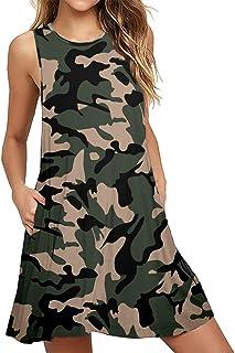 Women's Summer Casual Swing T-Shirt Dresses Beach Cover...