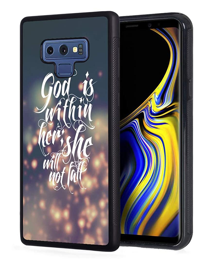 Galaxy Note 9 Case,Inspirational Quotes from Bible Verse God is Within Her She Will Not Fall Slim Anti-Scratch Rubber Protective Cover for Samsung Galaxy Note 9 (2018)
