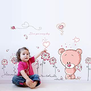 Removable Cute Bear Wall Stickers Home Docor Nursery Girl Kid Room Baby Wallpaper Home Decoration