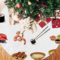 ツリースカート クリスマスツリースカート 寿司柄 ラーメン ホリデーデコレーション メリイクリスマス飾り 下敷物 可愛い 雰囲気 クリスマスパーティー 直径77cm