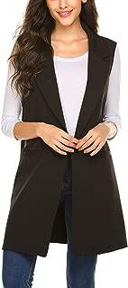 Long Vest for Women, Long Sleeveless Duster Blazer Vest Jacket, S-XXL