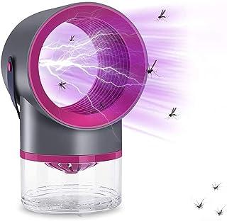 GUOJIN Lámpara Antimosquitos, Mata Mosquitos Electrico UV Mosquitos Killer, USB Anti Mosquitos Interior, Sin Ruido Y Radiación, para Mata Mosquitos, Insectos,Negro