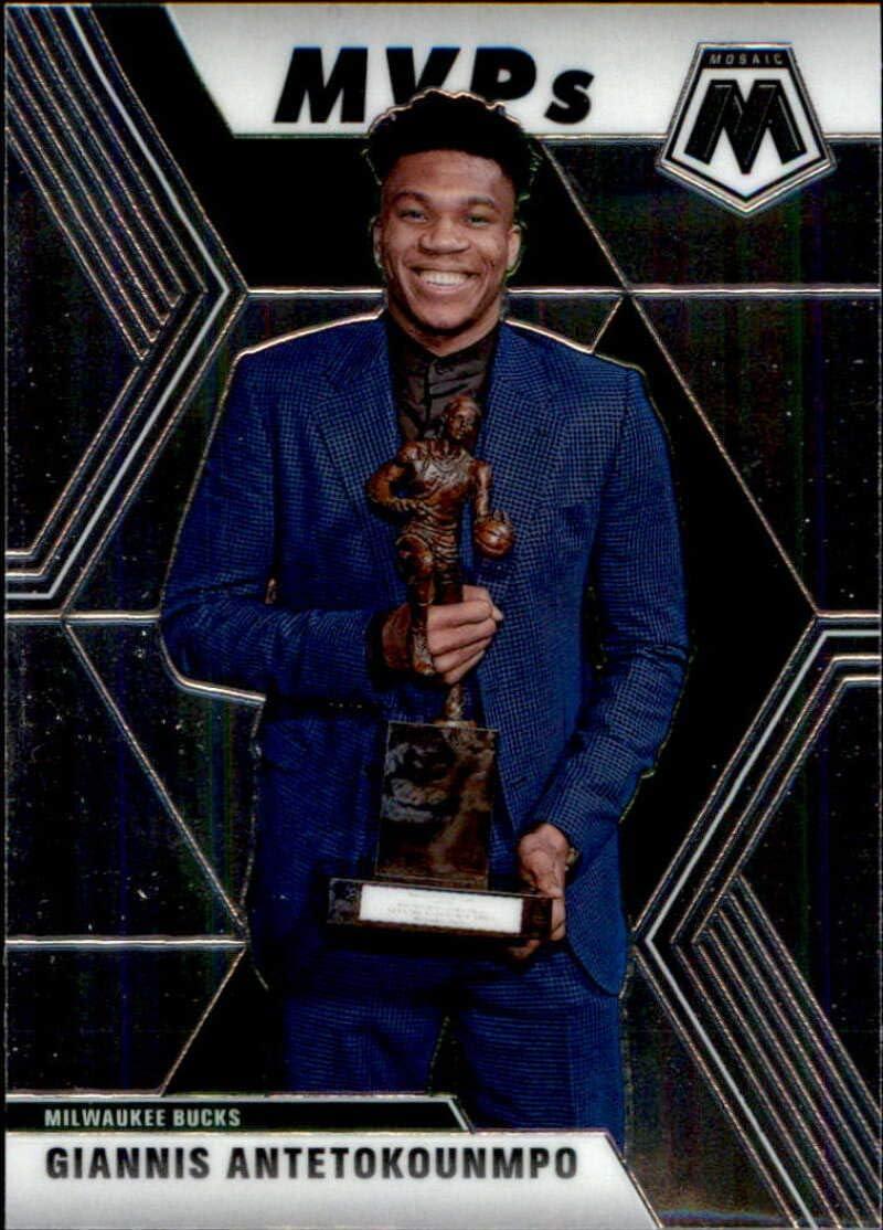 Amazon Com 2019 20 Panini Mosaic 297 Giannis Antetokounmpo Milwaukee Bucks Mvp Basketball Card Collectibles Fine Art
