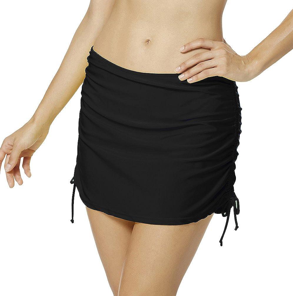 Bikini Jupette avec Liens fronc/és sur Le c/ôt/é Bas de Maillots avec Short int/égr/é YoungSoul Jupe de Maillot de Bain Femme