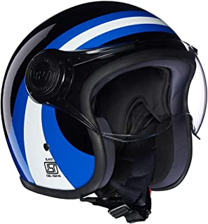 Royal Enfield Blue Open Face with Visor Helmet Size (XL)62 CM (RRGHEI000021)