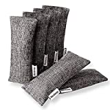Marsheepy 6 Pack Natural Bamboo Charcoal Bags, Shoe Deodorizer and Odor Remover, 100% Natural Shoes Smell Remover,Shoe Odor Eliminatorr (60g X 6 PACK)