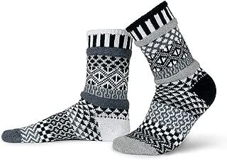 Solmate Socks - Mismatched Crew Socks; Made in USA; Midnight Medium
